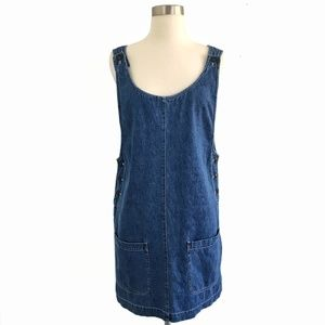 Vintage 90's Denim Overalls Jumper Size Medium